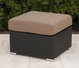 Wicker Ottoman with Cushion by Trijaya Living
