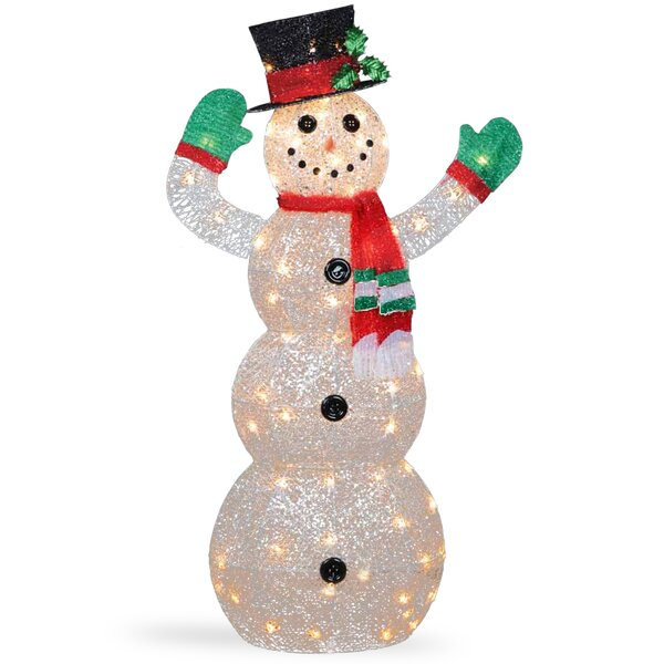 the holiday aisle crystal snowman christmas indooroutdoor decoration reviews wayfair