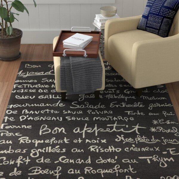 Huffman Charcoal Indoor/Outdoor Area Rug by Winston Porter