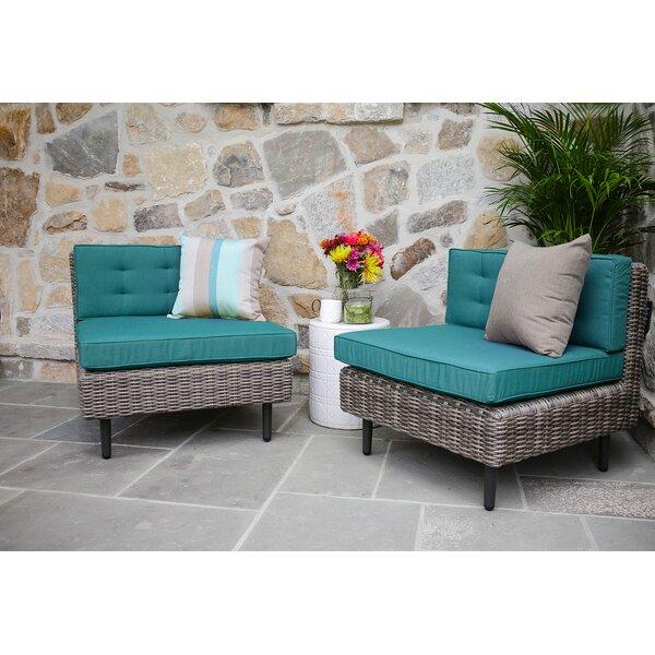 Kenn Patio Chair with Sunbrella Cushions (Set of 2) by Brayden Studio