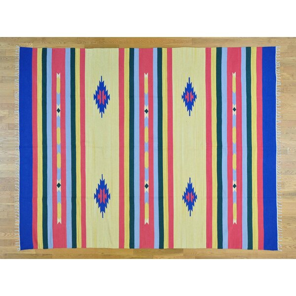 One-of-a-Kind Biarritz Killim Southwestern Design Handwoven Wool Area Rug by Isabelline