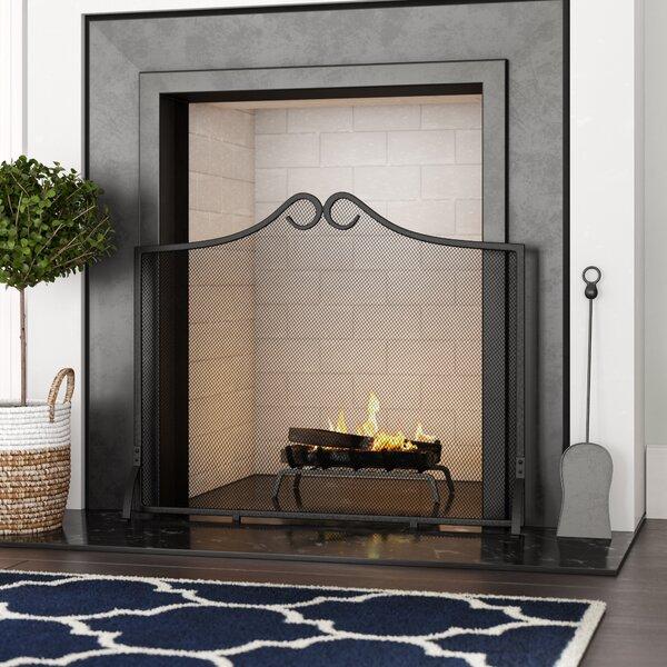 Chaliah Single Panel Steel Fireplace Screen By Charlton Home