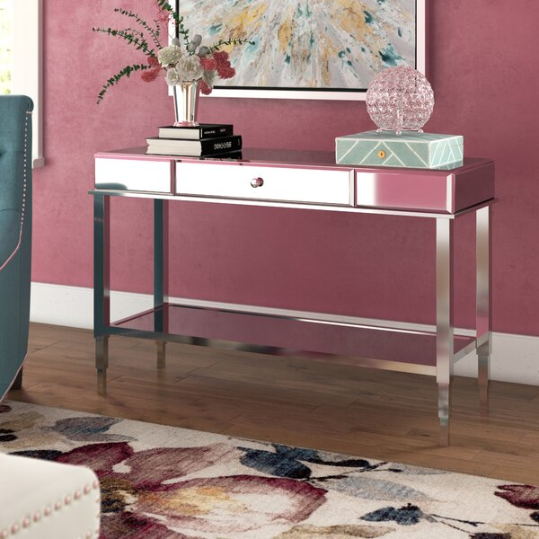 Review Calisto Mirrored Console Table
