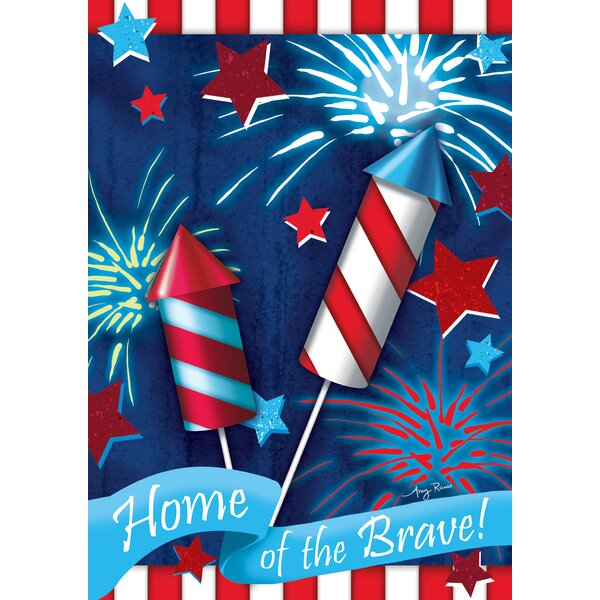 Home Of The Brave Garden flag by Toland Home Garden