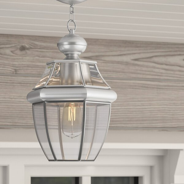 Gustavson 1-Light Outdoor Hanging Lantern by Three Posts