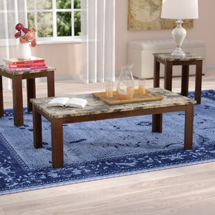 Cristobal 3 Piece Coffee Table Set by Charlton Home