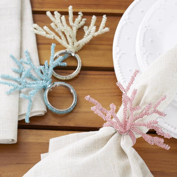 Colorful Coral Napkin Rings (Set of 6) by Birch Lane™