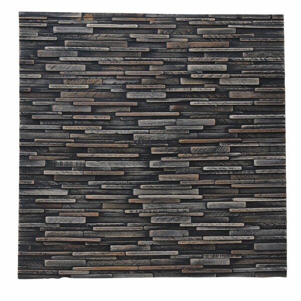 Artistica Valley 16.54 x 16.54 Teakwood Mosaic Tile in Mixed Slate by Ecotessa