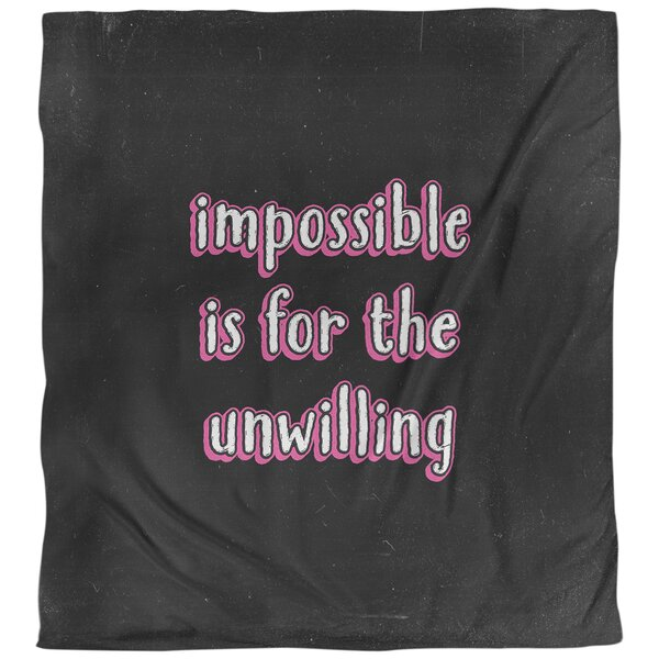 Quotes Impossible Single Reversible Duvet Cover
