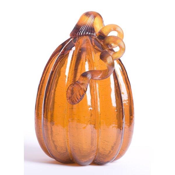 Tall Glass Pumpkin by Glitzhome