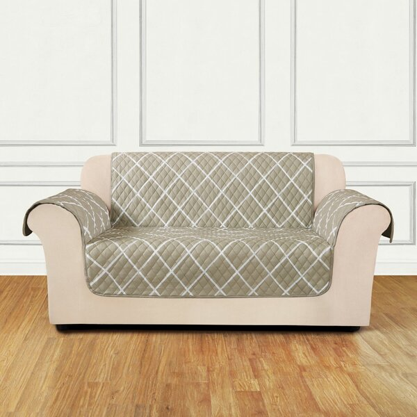Furniture Flair Box Cushion Loveseat Slipcover by Sure Fit