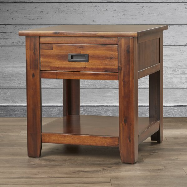 Abington End Table With Storage By Three Posts