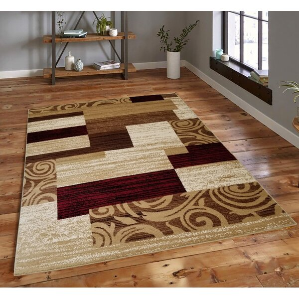 Chrissie Abstract Tufted Brown Indoor / Outdoor Area Rug