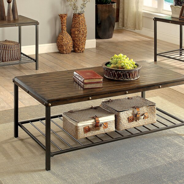 Mischa 3 Piece Coffee Table Set by Loon Peak