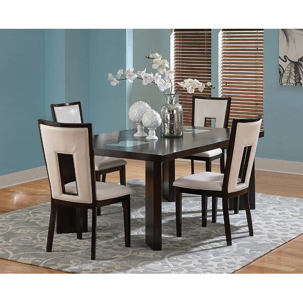 Hillcrest 5 Piece Solid Wood Dining Set by Brayden Studio