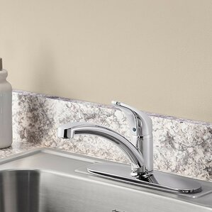 American Standard Colony Pro Single Handle Standard Kitchen Faucet with Deckplate