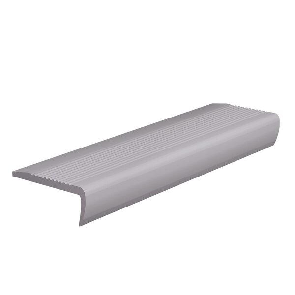 0.13 x 108 x 4 Stair Nose in Slate by ROPPE