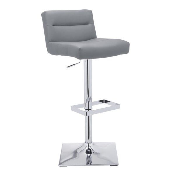 Brierfield Stafford Adjustable Height Swivel Bar Stool by Wade Logan