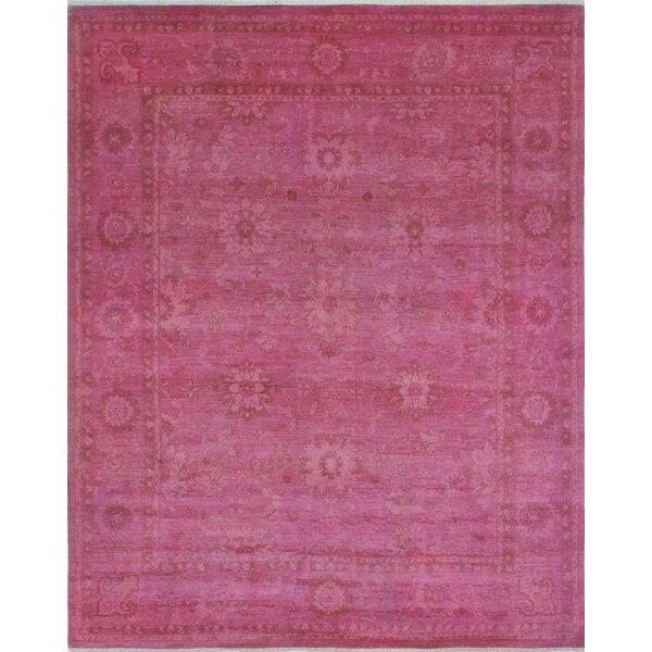 One-of-a-Kind Collette Hand-Knotted Wool Magenta Area Rug by Isabelline