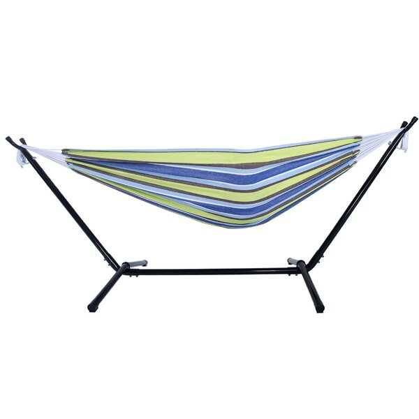 Harrietta Portable Polyester Camping Hammock with Stand by Highland Dunes Highland Dunes