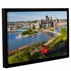 'Pittsburgh Skyline with Duquensne Incline' Framed Photographic Print by Latitude Run