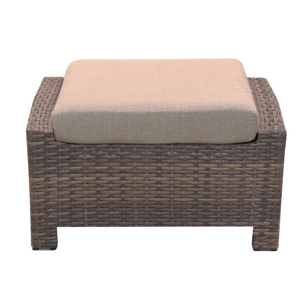 Cribbs Outdoor Ottoman with Sunbrella Cushions by Highland Dunes