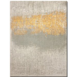 Abstract Soft Whisper Painting Print on Wrapped Canvas by Mercury Row