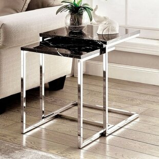 Demski Contemporary 2 Piece Nesting Table Set by Orren Ellis