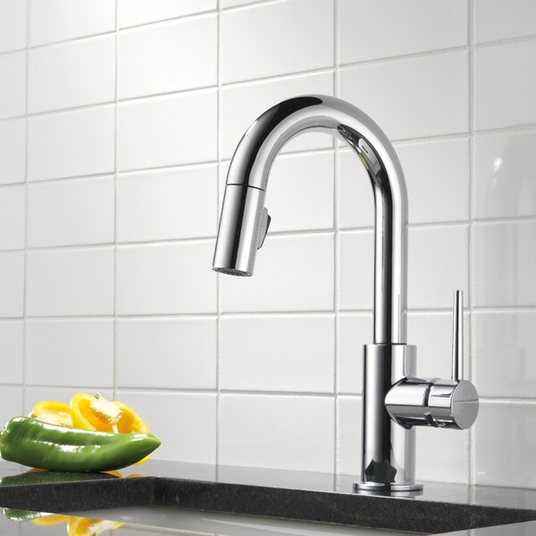 Trinsic Pull Down Bar Faucet with MagnaTite® Docking and Diamond Seal Technology by Delta