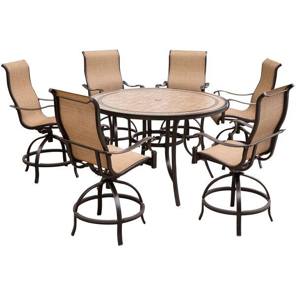 Bucci 7 Piece High-Dining Set by Fleur De Lis Living