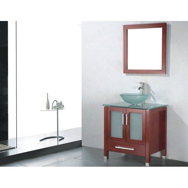 Adrian 24 Single Bathroom Vanity Set with Mirror by Adornus