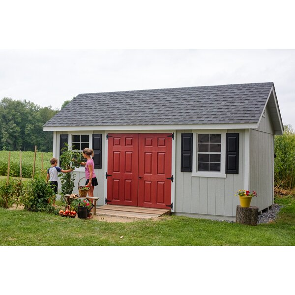 Fairmont 18 ft. W x 10 ft. D Wooden Storage Shed by YardCraft