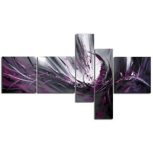 Abstract 5 Piece Painting on Canvas Set