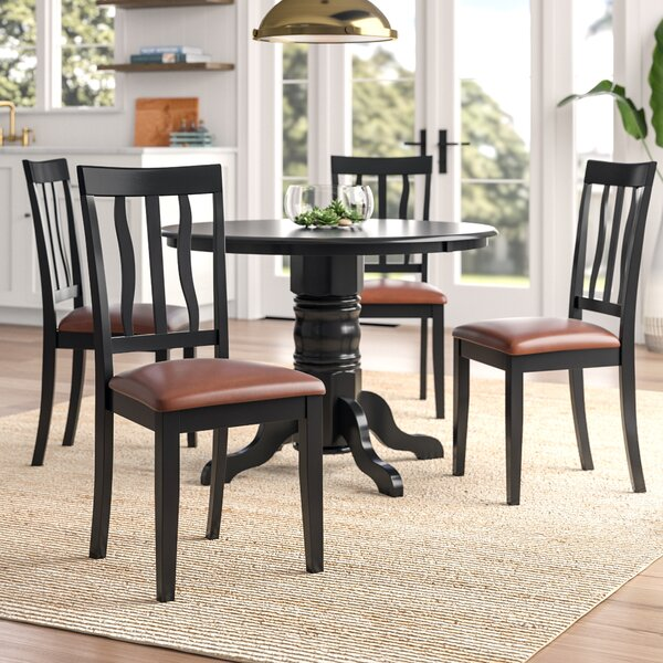 Langwater 5 Piece Wood Dining Set by Beachcrest Home