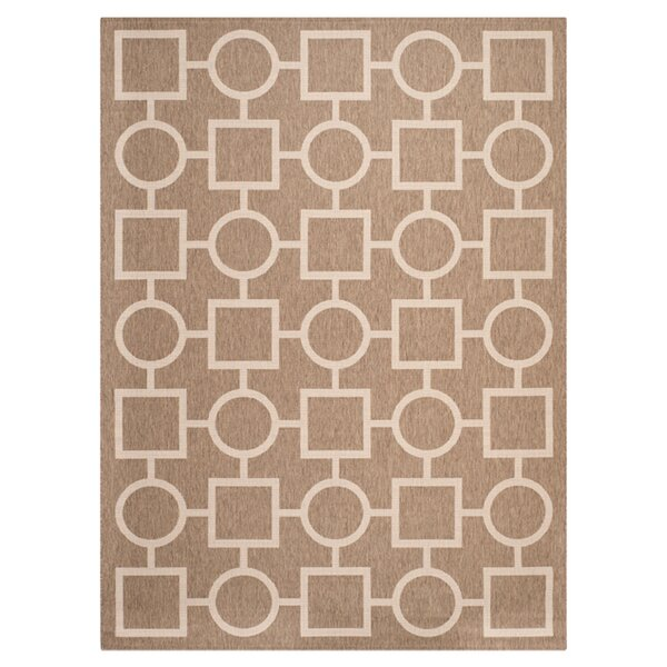 Jefferson Place Brown / Bone Outdoor Rug by Wrought Studio