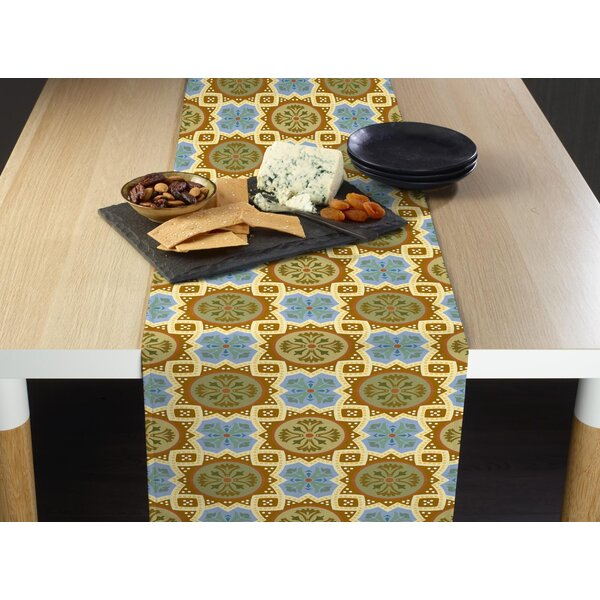 Winfree Medallion Mosaic Milliken Signature Table Runner by Bloomsbury Market