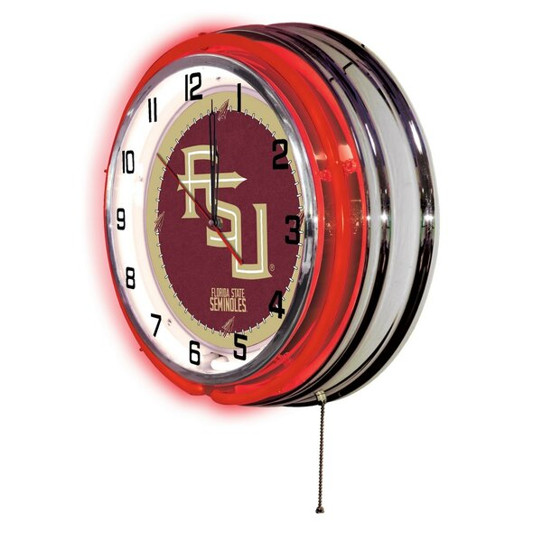 NCAA 19 Neon Clock by Holland Bar Stool
