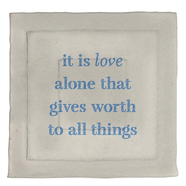 Love Inspirational Quote Single Reversible Comforter