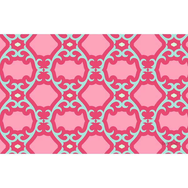Francie Trellis Pink Geometric Area Rug by Manual Woodworkers & Weavers