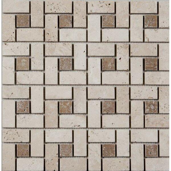 12 x 12 Travertine Mosaic Floor Tile