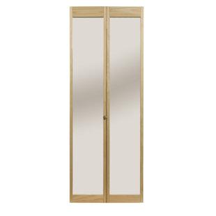 Solid Wood Mirrored Bi Fold Doors