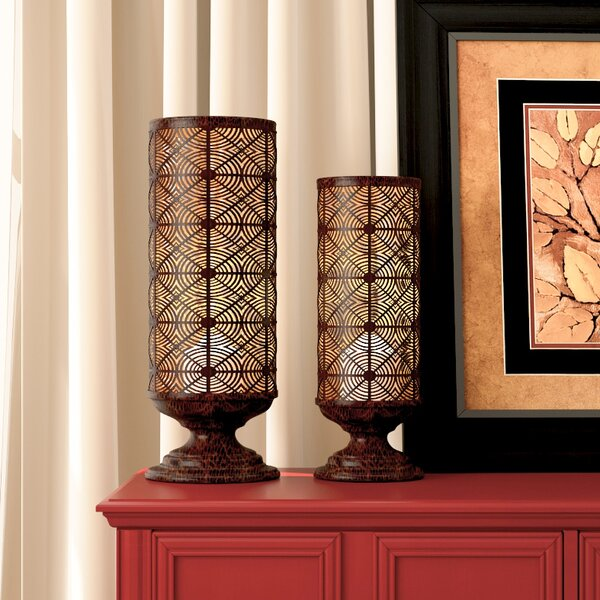 3 Piece Metal Hurricane Set by Darby Home Co