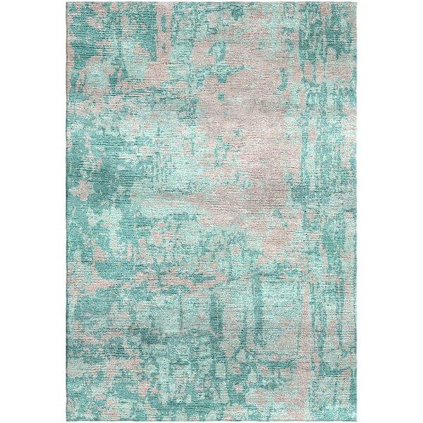 Ashford Handloom Green/Gray Area Rug by Ivy Bronx