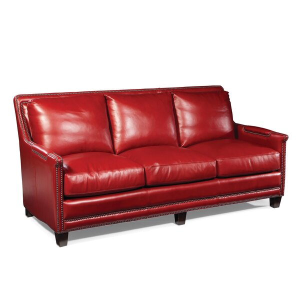 Edward Leather Sofa by Loon Peak