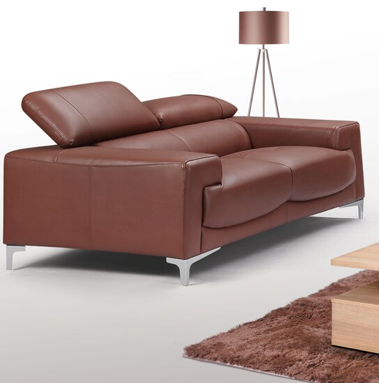 Top Quality Tipton Modern Saddle Leather Loveseat Get The Deal! 60% Off