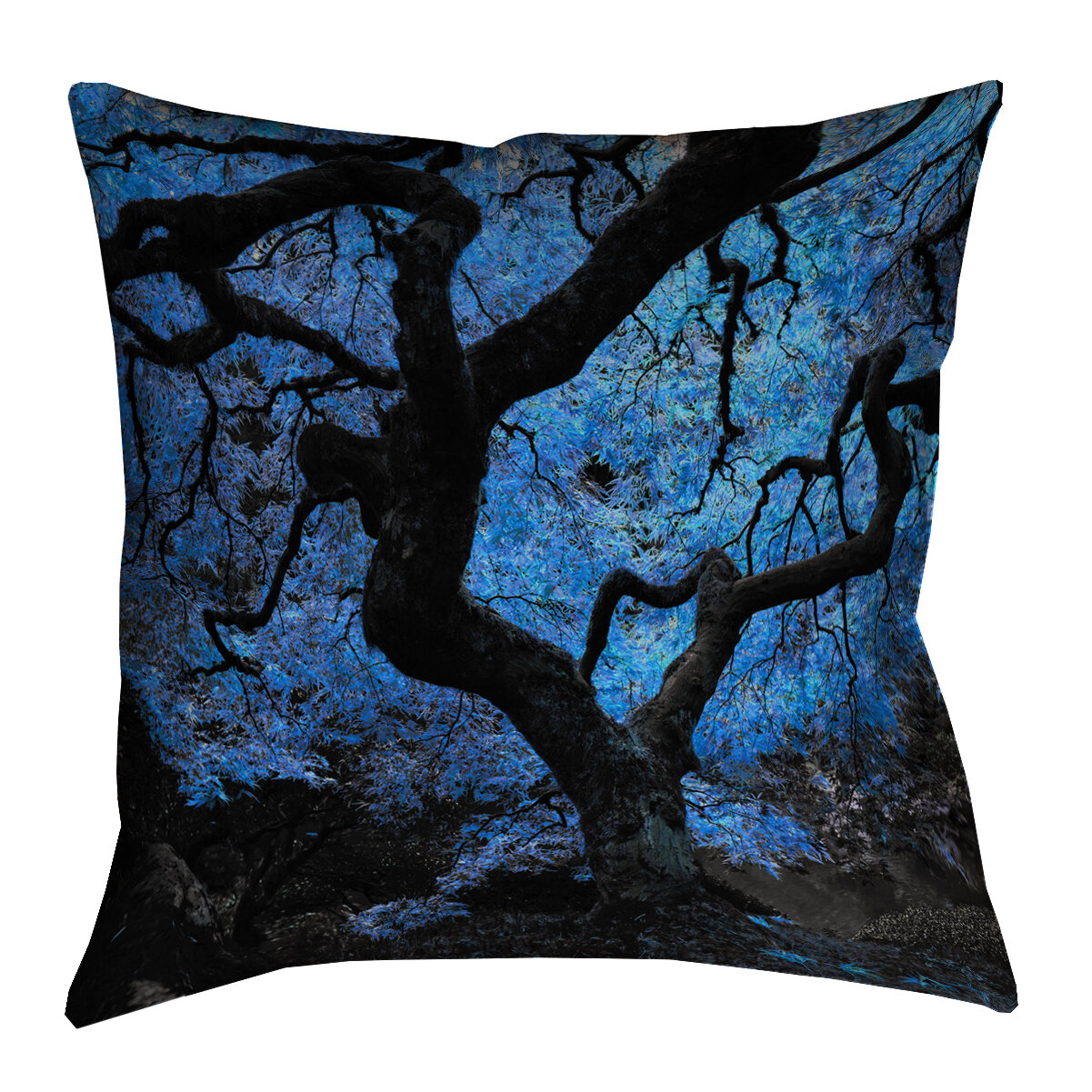 Modern Maples Pillow : Red Barrel Studio Ghost Train Modern Japanese Maple Tree Pillow Cover Wayfair