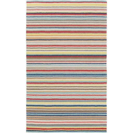 Bryant Hand-Hooked Red/Yellow Area Rug by Latitude Run