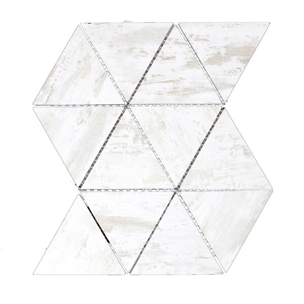 Nature 11.75 x 12.25 Glass Tile in Birchwood White/Tan by Abolos