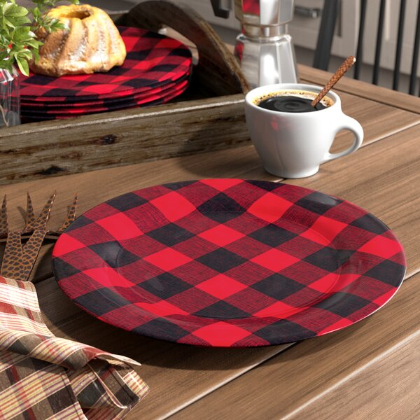 Overholt Vintage Lodge Buffalo Check Melamine 10.5
