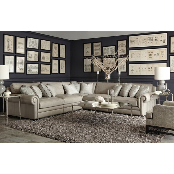 Deals Price Grandview Leather Modular Sectional
